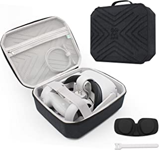 AMVR Smaller and Portable Fashion Travel Case for Oculus Quest 2, Storing VR Gaming Headset and Touch Controllers Accessor...