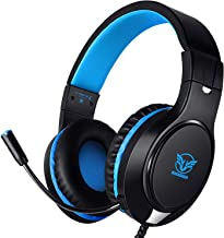 Karvipark H-10 Gaming Headset for Xbox One/PS4/PC/Nintendo Switch Noise Cancelling,Bass Surround Sound,Over Ear,3.5mm Stereo Wired Headphones with Mic for Clear Chat