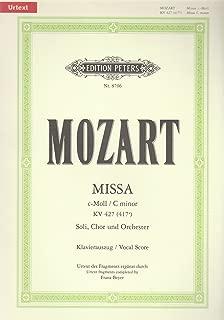 Missa c-Moll KV 427 (417a): Nach dem Urtext revidiert, ergänzt und herausgegeben / Klavierauszug