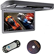 "XTRONS Grey 13.3"" HD 1080P Video Car MPV Roof Flip Down Slim Overhead DVD Player.."