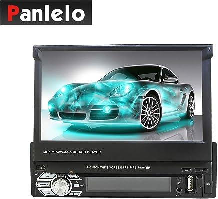 Panlelo T2 7 pollici 1 DIN Android Car Stereo Receiver con navigazione GPS BT Touch screen Schermo di visualizzazione Slide Wi-Fi Auto Radio Mirror Link App Store