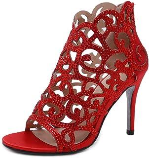 Stupmary النساء مضخات أحذية الزفاف كريستال عالية الكعب حجر الراين قطع الرمز البريدي رقيقة الكعب أحذية الزفاف