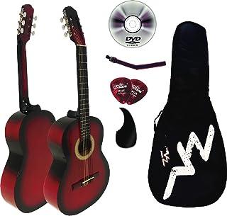 kit Guitarra Acústica Mod.1-A Negra (Rojo)
