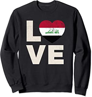 Iraq Flag Shirt Love Iraqi Pride Heart Gift Sweatshirt