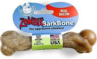 Pet Qwerks Zombie BarkBone Dog Chew Toy, Bacon Flavor, Medium