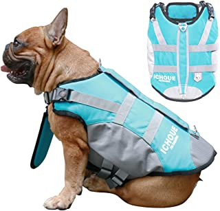 iChoue Dog Life Jackets Saver Swimming Vest Floating Plate