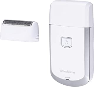 モノクローム メンズシェーバー USB充電式 往復式 ホワイト MAM-0500/W [Amazon限定ブランド]