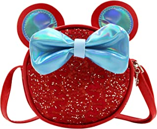 Toddlers Little Girls Mini Crossbody Shoulder Bag Novelty Wallet Dress Up Purse Handbag with Cute Mouse Ears