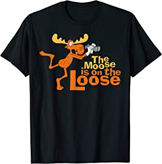 Rocky And Bullwinkle Moose Is On The Loose Graphic T-Shirt