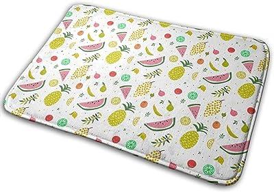 Cute Fruits Carpet Non-Slip Welcome Front Doormat Entryway Carpet Washable Outdoor Indoor Mat Room Rug 15.7 X 23.6 inch