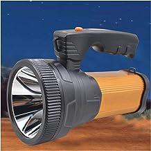 JSJJAUA Zaklamp, USB, oplaadbaar, voor buiten, draagbaar, Searchlight (kleur: oranje)