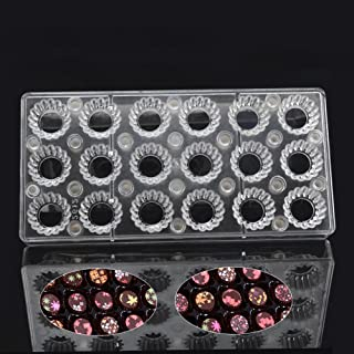 Round Gear DIY Chocolate Transfer Sheet Custom Molds Magnetic Polycarbonate Mould