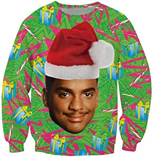 Unisex Funny Print Ugly Christmas Sweater Jumper