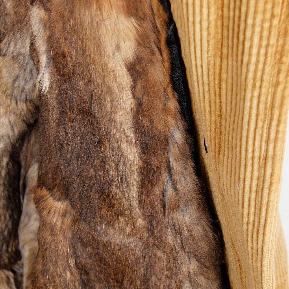 SHOUBANG Mantel Winter Wolle Futter Mantel Mantel Damen Parka Pelz Kord Echt Pelzkragen Warme Lange Parka Raccoon-collar-55-M
