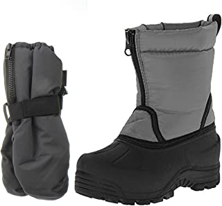 Northside Icicle Winter Snow Boots Includes a Pair of Matching Gloves