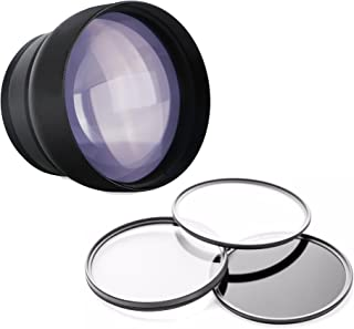 Nikon Coolpix B500 2.2X High Definition Telephoto Lens + 3 Piece Filter Kit (Includes Lens/Filter Adapter & Cap)