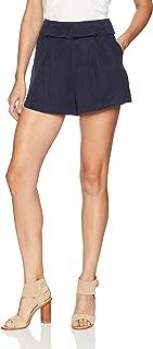 Women's Fold Over High Waist Pleated Shorts
