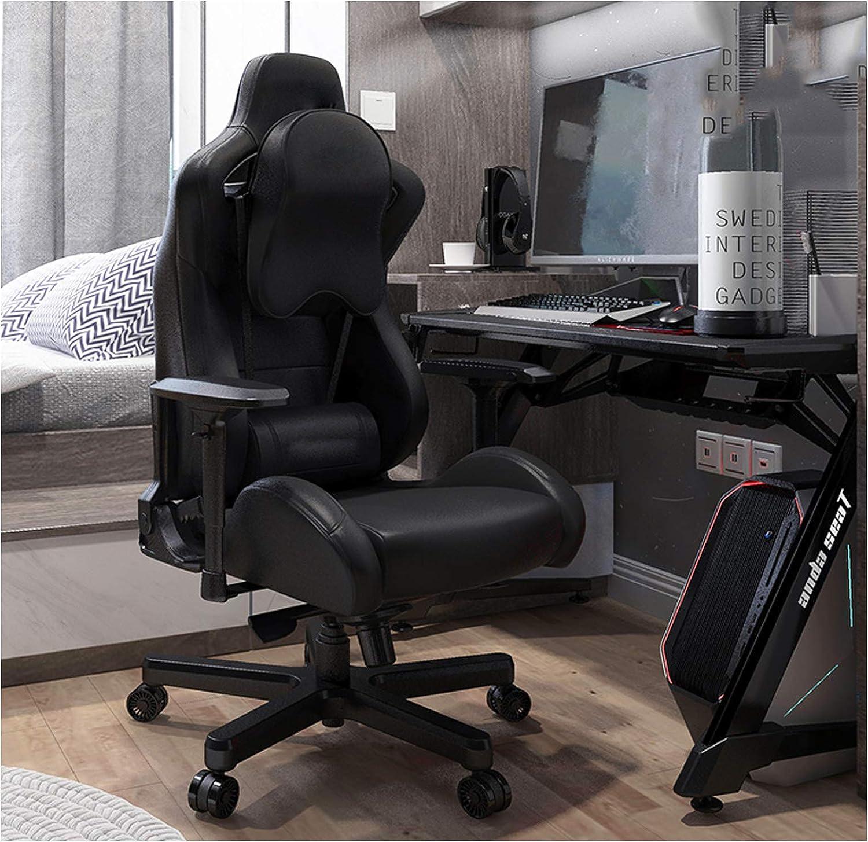 Ordinateur Chaise Maison Confortable Chaise de Jeu Chaise de Bureau Jeu Chaise Anchor Chaise pivotante siège inclinable Ascenseur Chaise Dossier Red wine2 Black1