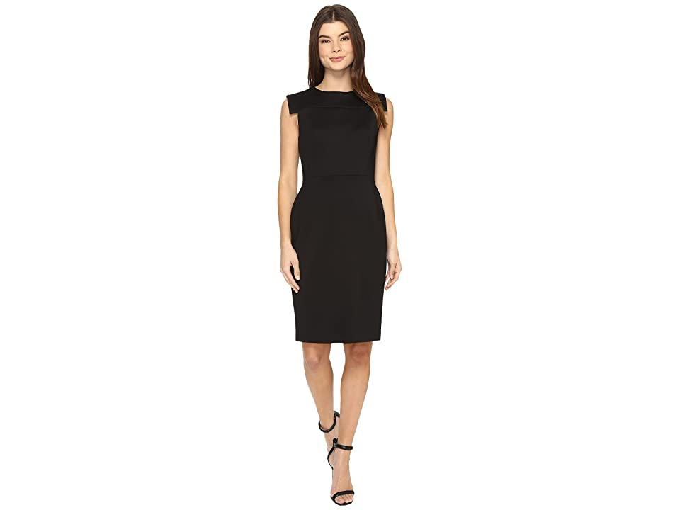 Calvin Klein Extended Armhole Sheath Dress CD7M156B (Black) Women