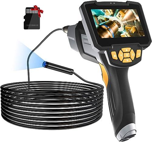 "Borescope Inspection Camera, LONOVE Upgraded 1080P HD Detachable & Waterproof Endoscope Camera Snake Camera with 4.3""..."