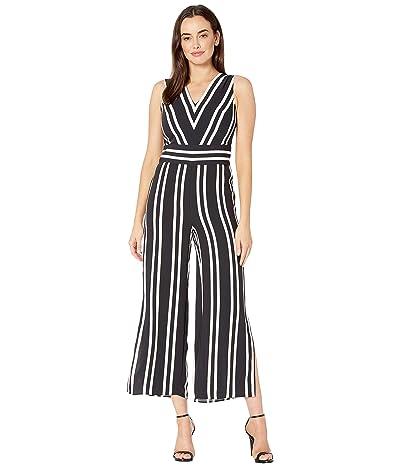LAUREN Ralph Lauren Striped Twill Jumpsuit (Polo Black/Mascarpone Cream) Women