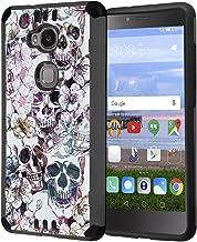 Huawei Sensa Case, Honor 5X Case, Capsule-Case Hybrid Silm Defender Armor Combat Case (Dark Grey & Black) Brush Texture Finishing for Huawei Sensa 4G LTE / Honor5X - (Messy Skull)