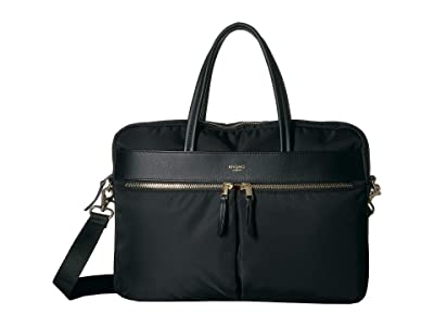 KNOMO London Mayfair Hanover 14 Slim Laptop Brief (Black 2) Briefcase Bags