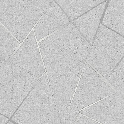 Fine Décor FD42280 Fractal Quartz, Silver