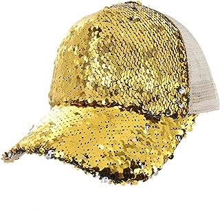 Baseball Cap with Double Sided Sequins Everyday Bling Mesh Trucker Baseball Ball Cap
