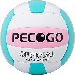 والیبال سایز 5 حرفه ای ، تجهیزات آموزش ورزشی والیبال در فضای باز PECOGO PU Leather Soft Indoor برای مبتدیان ، نوجوانان ، بزرگسالان