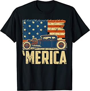 Merica Hot Rod Flag Tee