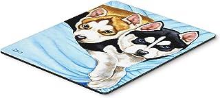 Caroline's Treasures Snow Angels Siberian Husky Mouse Pad, Hot Pad or Trivet, Multicolor (AMB1327MP)