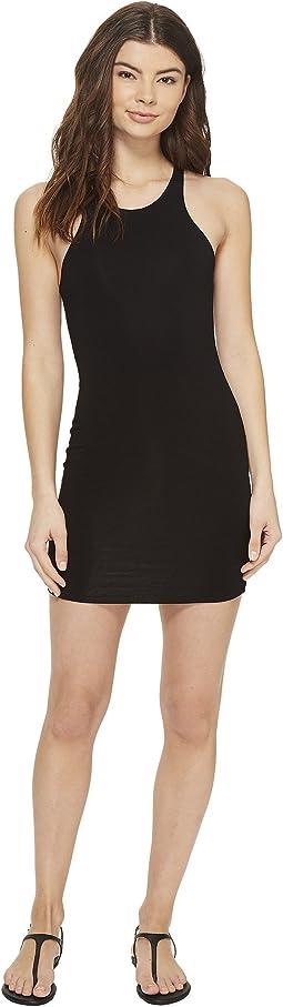Honolua High Neck Sporty Fit Mini Dress