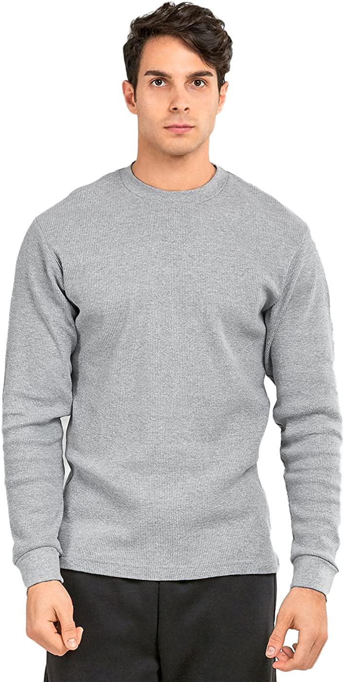 Thermal Top - Men's Classic Crewneck Waffle Knit Thermal Top