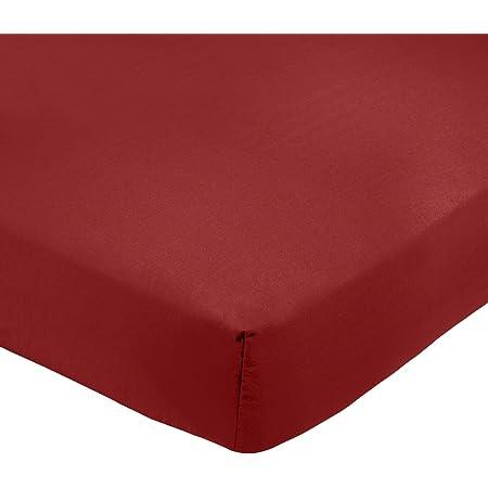 Amazon Basics AB 200TC Poly Cotton, mélangé, Bordeaux, 140 x 200 x 30 cm