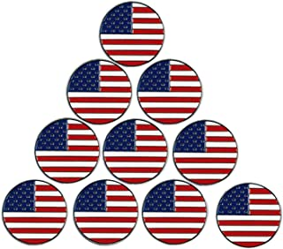 Golf Ball Markers Assorted Patterns Fits All Magnetic Golf Tools Value 10 Pack, Alloy Soft Enamel Technique Marker for Hat Clips Gloves Golf Divot Tools Marks