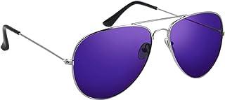 Komonee Style Pilote Violet lentille Des lunettes de soleil Designer Unisexe UV400 Protection