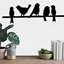 Art Street Bird MDF Wall Plaque/Wall Sign for Home Decoration Ready to Hang Wall Decor (6mm Black)