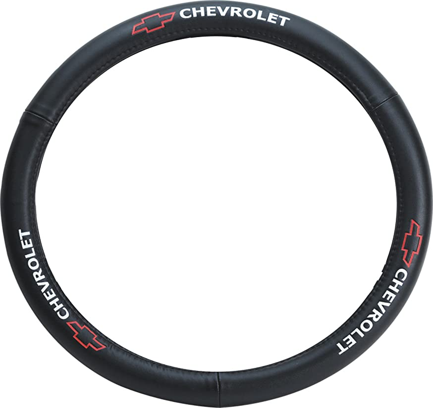 Pilot SW-111 Genuine Leather Steering Wheel Cover with Chevrolet Logo
