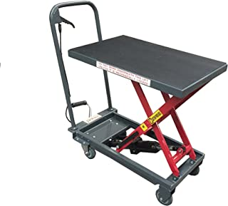 Pake Handling Tools - Hydraulic Manual Scissor Lift Table, 500lbs (1000lbs)