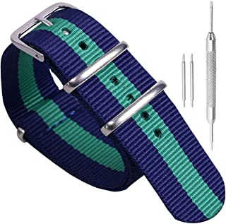 Colorful Classic Fashion NATO Style Ballistic Nylon Watch Band Strap Replacement for Men and Women
