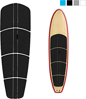 ABAHUB 12 Piece Surf SUP Deck Traction Pad Premium EVA with Tail Kicker 3M Adhesive for Paddleboard Black