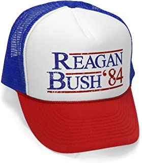 Reagan Bush '84 - Funny Retro Vintage Style - Unisex Adult Trucker Cap Hat