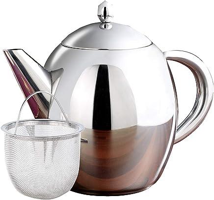 Rosenstein & Söhne Teekrug: Edelstahl-Teekanne mit Siebeinsatz, 1,75 Liter, spülmaschinenfest (Teekessel) preisvergleich bei geschirr-verleih.eu