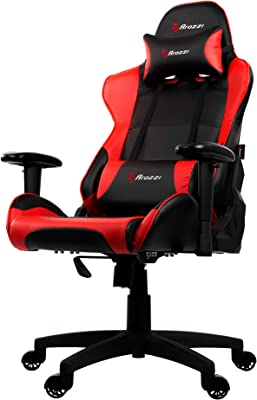 Arozzi Verona V2 Advanced Racing Style Gaming Chair with High Backrest, Recliner, Swivel, Tilt, Rocker and Seat Height Adjustment, Lumbar and Headrest Pillows Included, Red
