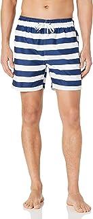 سروال سباحة رجالي مخطط تروي من Kanu Surf باللون الكحلي/الأبيض، مقاس متوسط