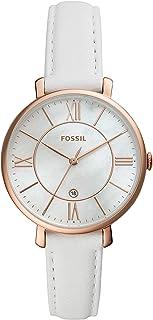 Fossil Women's Quartz Wrist Watch analog Display and Leather Strap, ES4579