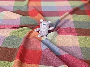 【尾州ウール アンゴラ カシミヤ ウールガーセ】 カラフルマスブロック 鮮やか 国産 尾州 羊 ハンドメイド 手作り 縫製 小物作り 羊 素材