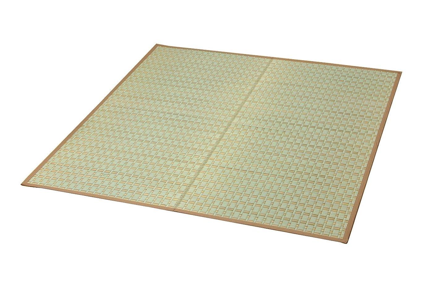 継承外部理論的イケヒコ い草ラグ カーペット 2畳 掛川織 『雲仙』 ベージュ 江戸間2畳 (約174×174cm)