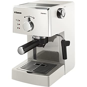 Philips Saeco Poemia Focus - Cafetera de espresso manual, color blanco: Amazon.es: Hogar